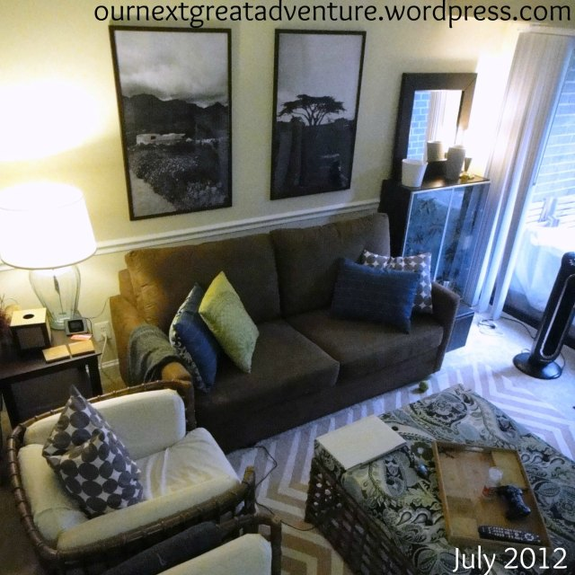 Living Room with Engineering Prints 1