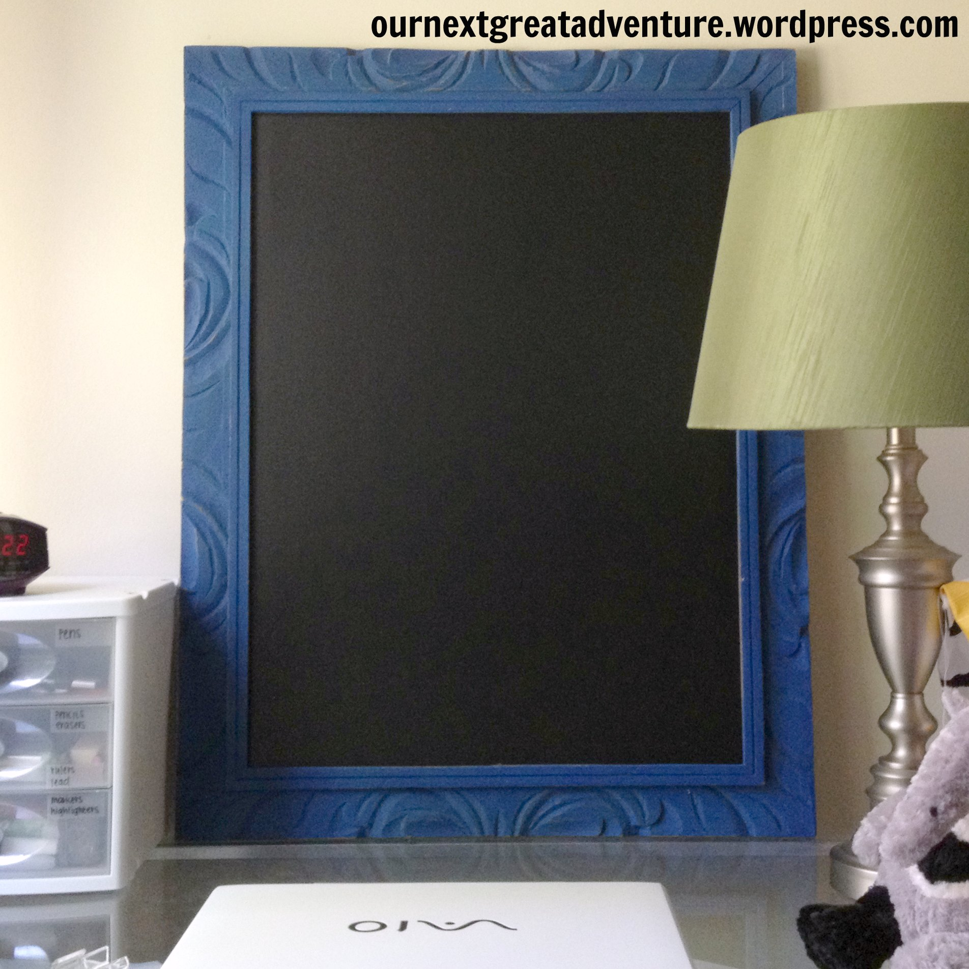 DIY Chalk Paint Frame with Chalk Board Contact Paper insert | This ...