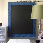 DIY Chalk Paint Frame with Chalkboard Insert
