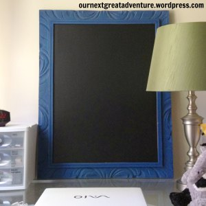 DIY Chalk Paint Frame with Chalk Board Contact Paper insert