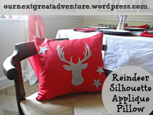 Christmas DIY Reindeer Pillow