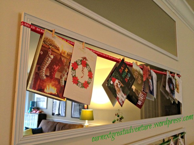 Christmas House - Cards on the Mirror