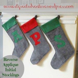 Christmas Stockings Reverse Applique