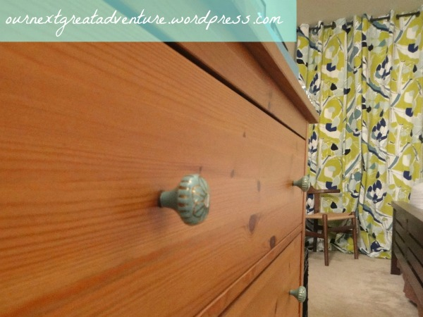 Bedroom Dresser Curtain Update