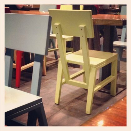 Chairs at Shake Shack