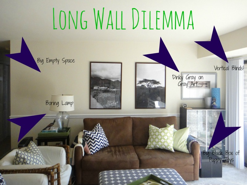Design dilemma this sarah loves - How to decorate a living room wall ...