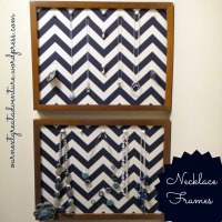 Necklace Organizer Frames: Pinterest Challenge