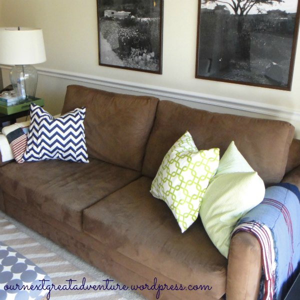 New Pillows Couch