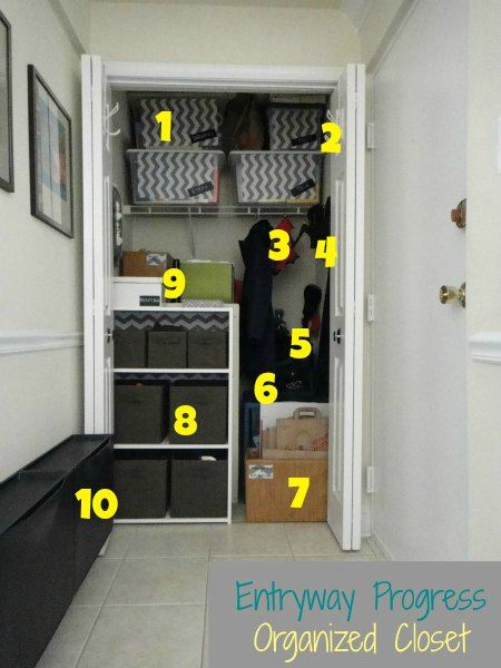 Entryway Organized Entry Closet Details