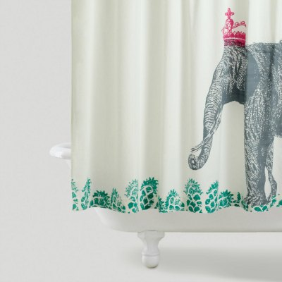 World Market Elephant Shower Curtain