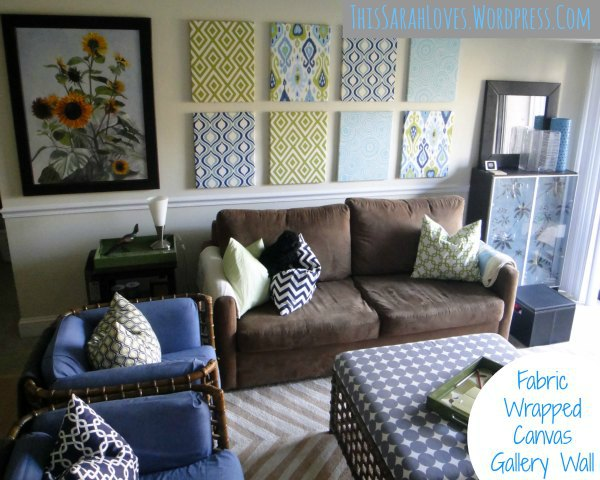 Fabric Wrapped Canvas Wall Panels - Long Wall Dilemma Solved