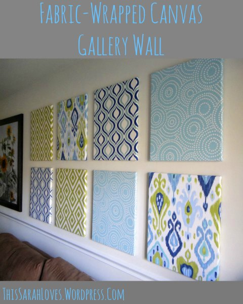 Fabric Wall Covering : Fabric wrapped canvas wall gallery this sarah loves
