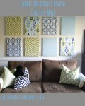 Fabric Wrapped Canvas Wall