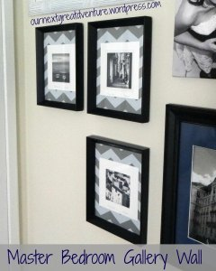Gallery Wall - ZigZag Matting with Black and White Photos