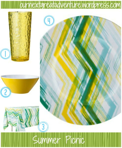 Picnic Plates Collage
