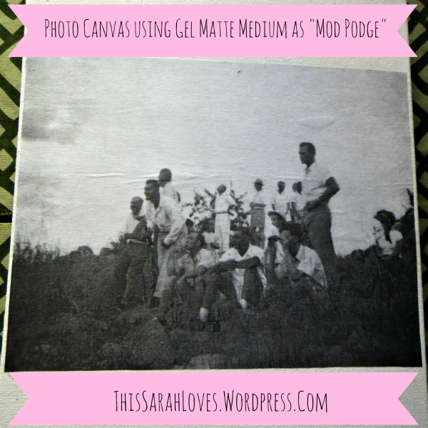 Canvas - Photo Transfer - Crowd on a Hill Close-up