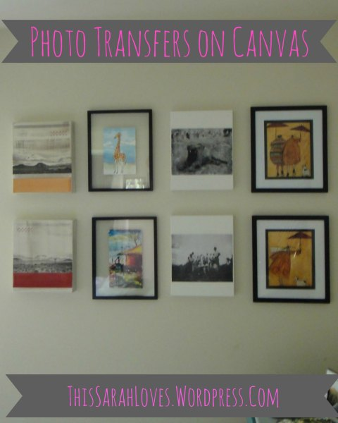 Canvas - Photo Transfers in a Collage Wall