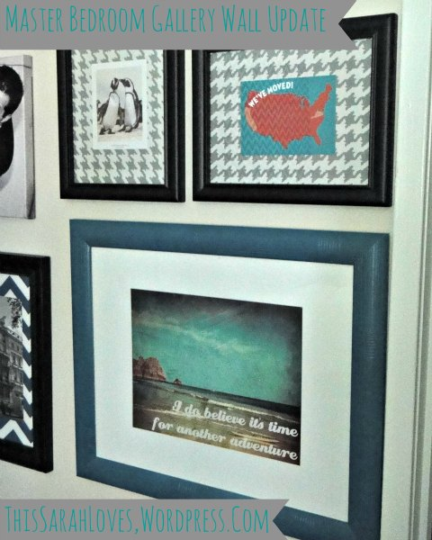 Gallery Wall Update with Teal Frames Close-up