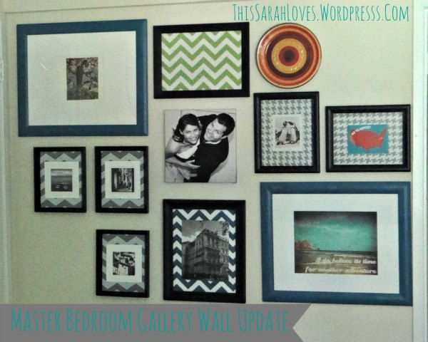 Gallery Wall Update with Teal Frames