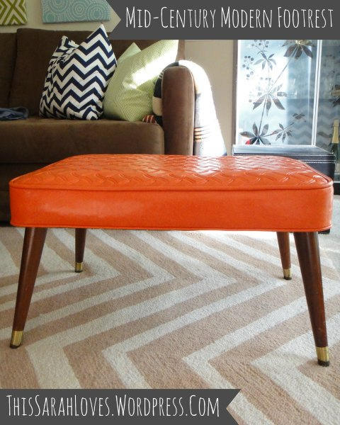 Midcentury Modern Footstool Full View - ThisSarahLoves