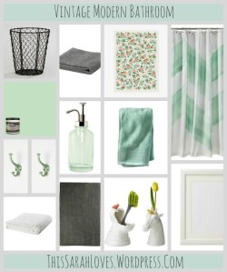 Vintage Modern Bathroom - ThisSarahLoves