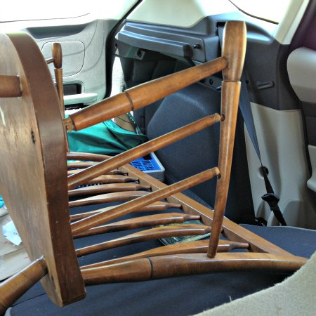 Craigslist Bench in the car