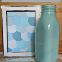 Quick Craft: Faux Milk Glass & Paint Chip Art