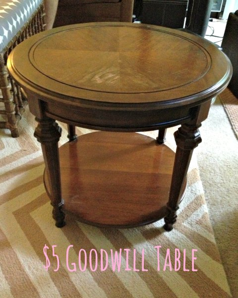 Summer Projects - Five Dollar Goodwill Table