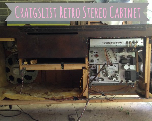 Summer Projects - Retro Stereo Cabinet - all the guts