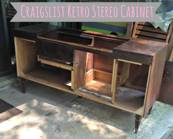 Summer Projects - Retro Stereo Cabinet - Stripped
