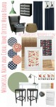Whimsical Navy and Coral Home Office