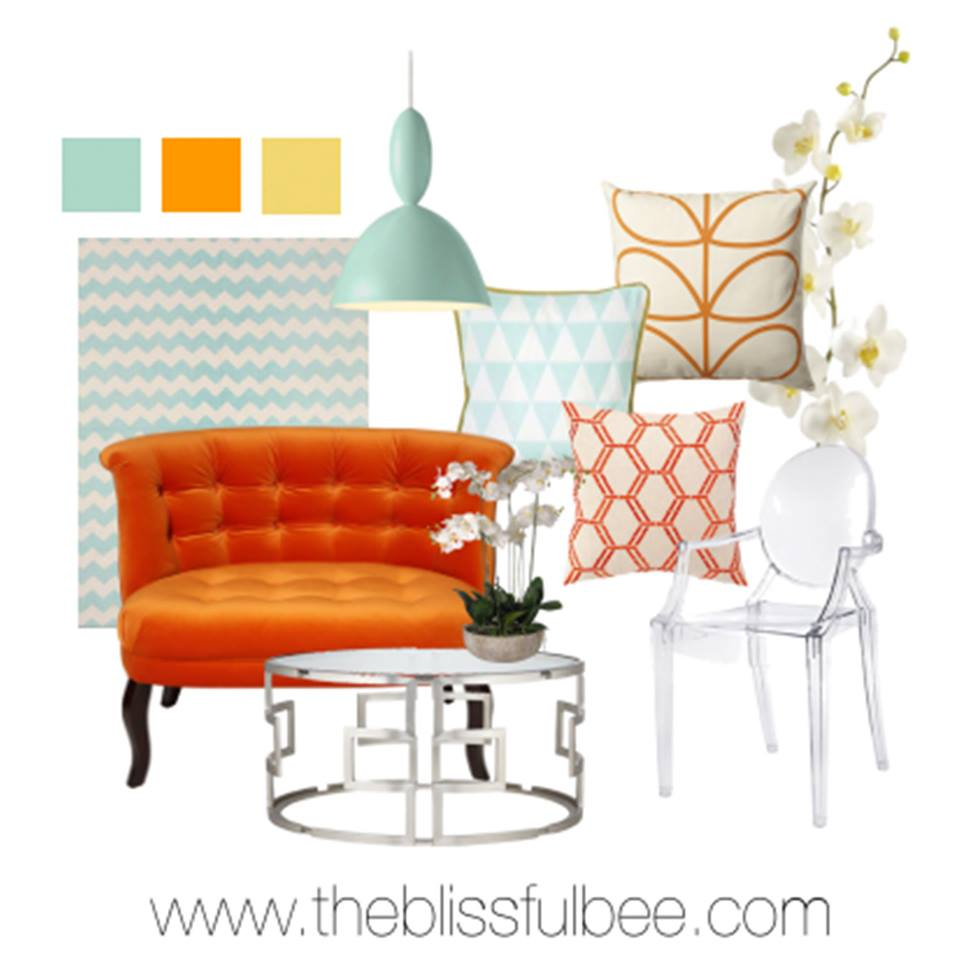 Inspired by Orange and Mint: Design Collaboration | This Sarah Loves