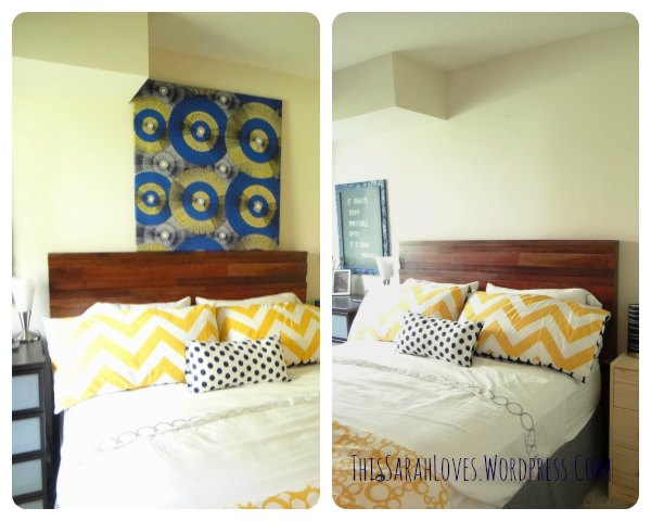 Guest Room - Furniture Fixup Headboard 2 - #thissarahloves