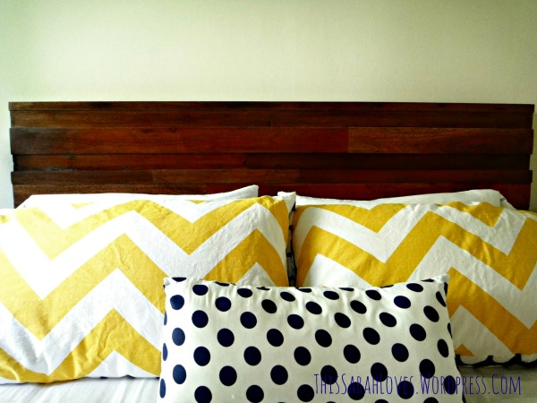 Guest Room - Furniture Fixup Headboard 3 - #thissarahloves