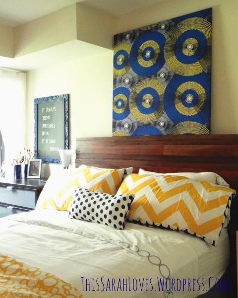 Guest Room - Furniture Fixup Headboard - #thissarahloves