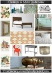 Mint & Tangerine Bedroom