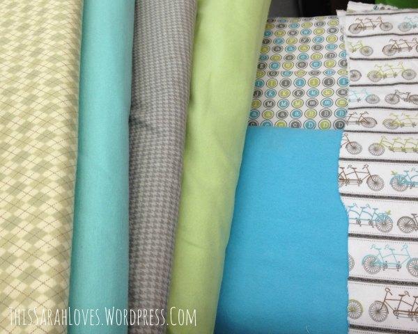 Baby Boy Blue - Rag Quilt 1