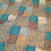 Little Boy Blue: Rag Quilt