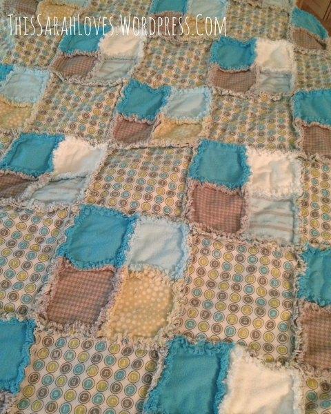 Baby Boy Blue - Rag Quilt 3
