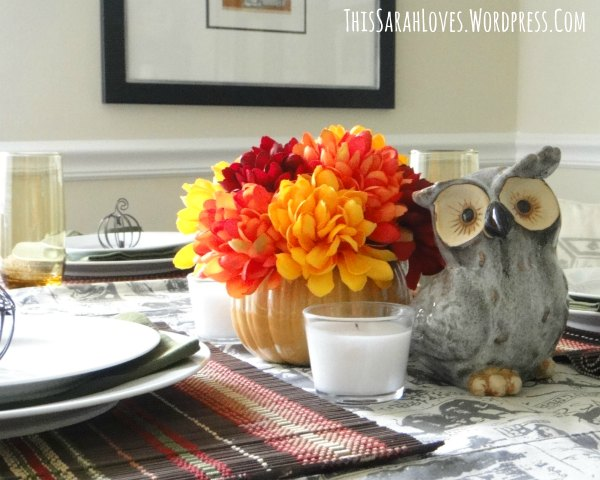 Easy Fall Table - Centerpiece - ThisSarahLoves