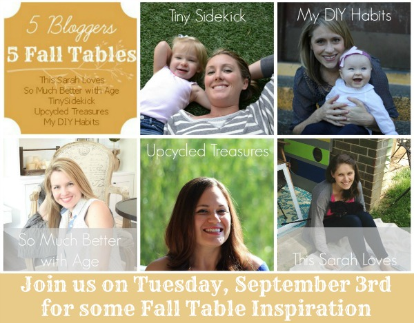 Group Series - Promotion Collage for Fall Tables with Dates