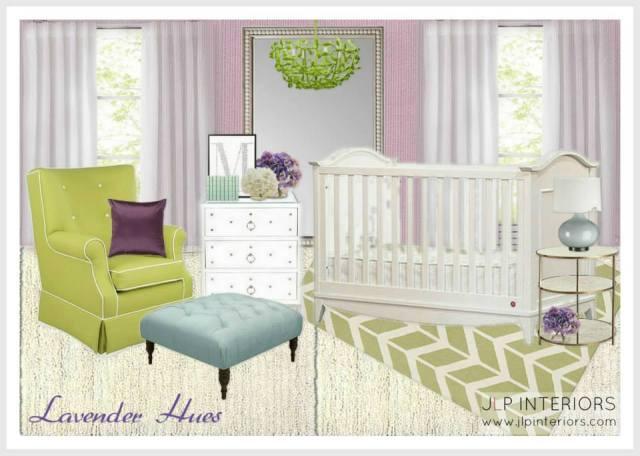 Lavender Hues Nursery - JLP Interiors