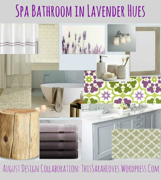 Lavender Hues - Spa Bathroom - ThisSarahLoves