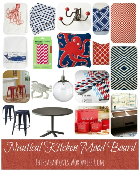 Nautical Kitchen Design Board - #thissarahloves