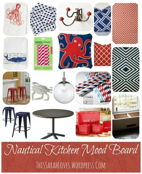 Nautical Kitchen Design Board - #thissarahloves
