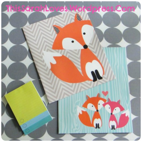 Office Supplies - Foxes on Folders #thissarahloves