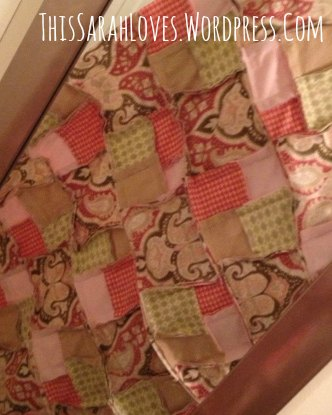 Paisley and Pink - Rag Quilt