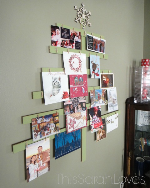 Yardstick Card Tree - #thissarahloves
