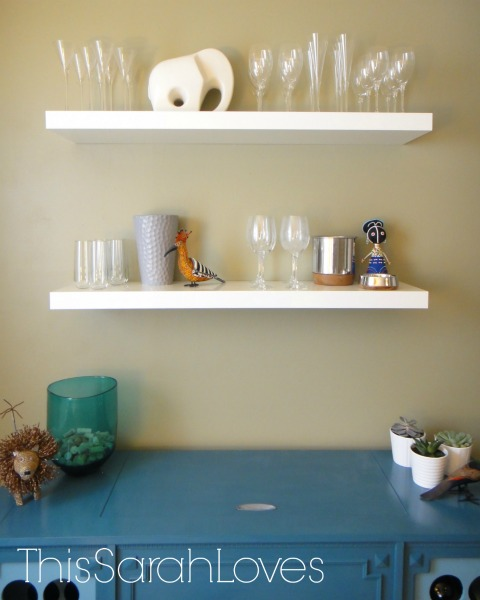Floating Shelves - Dining Room - Wine Bar