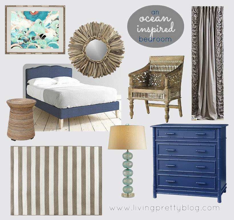 Living Pretty - Ocean Inspired Bedroom